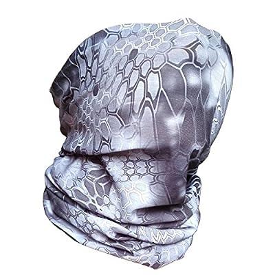 Fishing Sun Mask Camo Multipurpose Walking Man 12-in-1 Versatile Headwear Quick dry Military Headwear Breathable Tactical Balaclava Warm Neck Gaiter Lightweight Motorcycle Scarf for Men