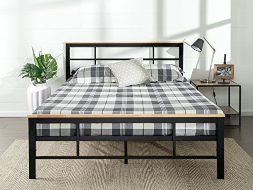 (Zinus Marcia Urban Metal and Wood Platform Bed, Twin)