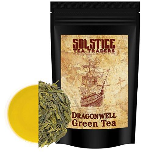Dragon Well Green Tea Loose Leaf (8-Ounce Bulk Bag) (Green Tea Dragonwell)