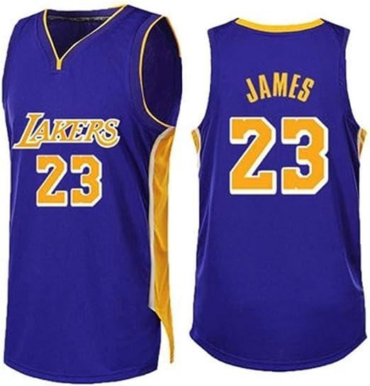 CCKWX Camisetas De Baloncesto para Hombre -Lakers # 23 James ...