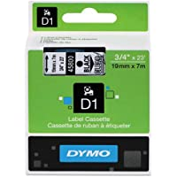 Genuine DYMO 3/4 (18mm) Black on Clear D1 Label Tape for Electronic Dymo LabelManager 500TS Label Maker