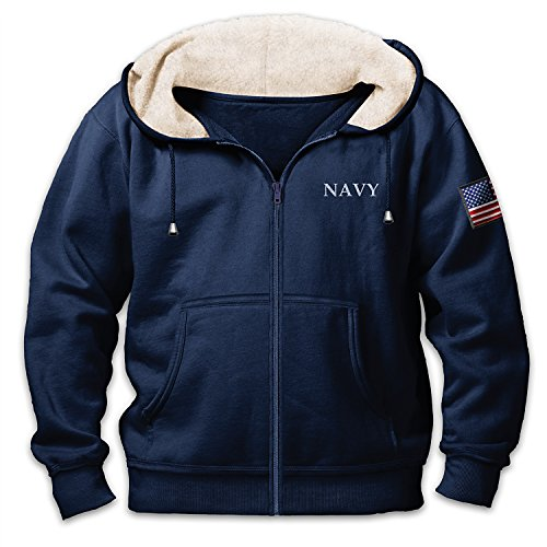 U.S. Navy Honor, Courage And Commitment Men's Blue Hoodie: L