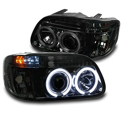 ZMAUTOPARTS Ford Explorer/ Mercury Mountaineer CCFL Halo Projector Headlights Smoke