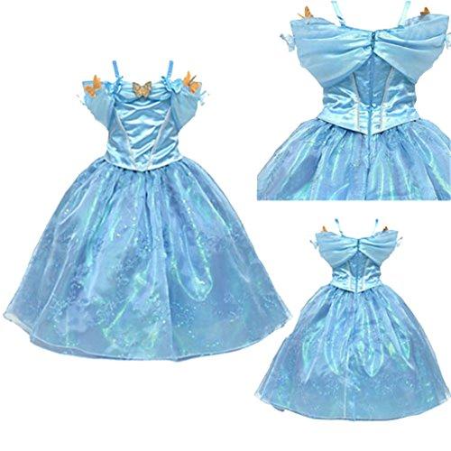 Oulifa Girl's Cinderella Movie Ella Kids Sling Luxurious Princess Dress 110cm