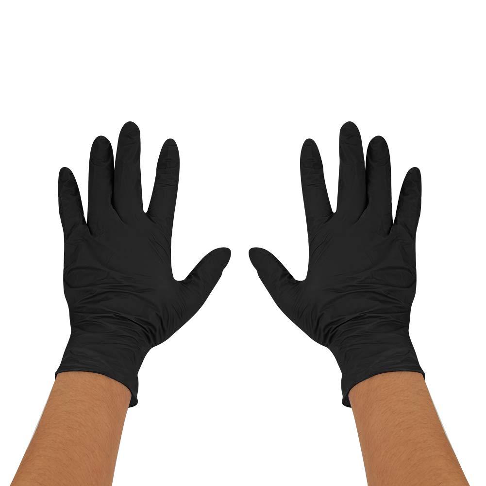 M, Noir Lot de 500pcs Gants Jetables Non Poudr/é sans Latex pour Tatouage M/édicanicien Laboratoire Alimentation M/énage Gant Jetable sans Poudre en Nitrile