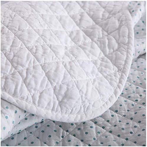 ZXLRH Couvre-lit 100 % coton, 2 taies d'oreiller, 3 pièces, couvre-lit matelassé finement réversible avec motif brodé