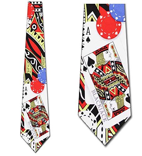 BlackJack Gambling Tie - Mens Casino Neck Tie