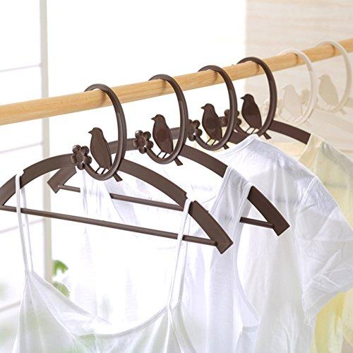 bird of plastic hangers/ padded clothing pole slip hanger/Adult hangers/Clotheshorse seamless clothing (Adult Storea)