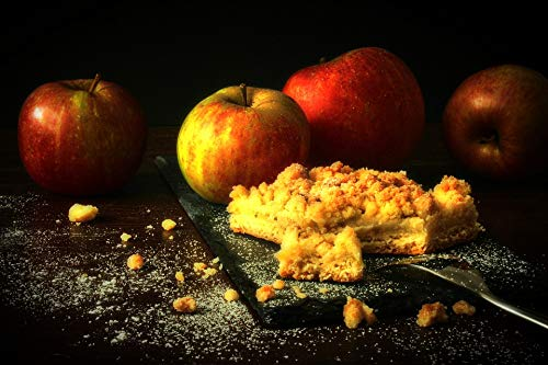 Photography Poster - Apple, Apple Pie, Streusel Cake, 24