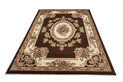 Bone 12x12 (Well Woven 36378 Timeless Le Petit Palais Traditional Medallion Brown Area Rug 9'3
