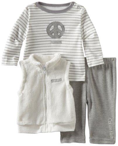Calvin Klein Baby-Boys Newborn 3 Piece Vest Set