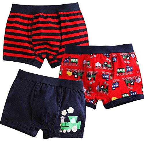 Jojobaby Baby Toddler Kids 2T-7T Boys Boxer Brief 3-Pack Underwear Set 110cm 4-5T ()