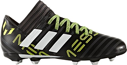 adidas Kids' Nemeziz Messi 17.3 FG J Soccer-Shoes, Black/White/Solar Yellow, 2 Big Kid