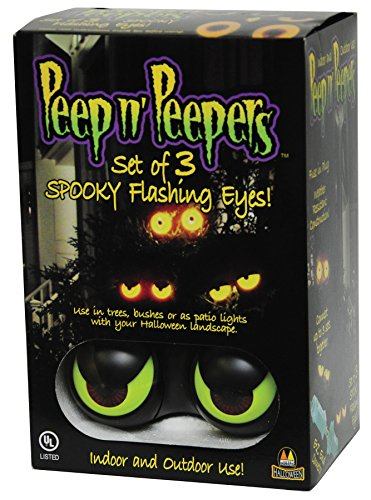 UHC Spooky Flashin Eyes Peepers Horror Theme Party Supplies Halloween Decoration (Tree Eyes Halloween)