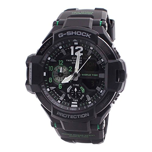 Casio G-Shock Men's GA-1100 Gravitymaster Watch, Black/Silver, One Siz