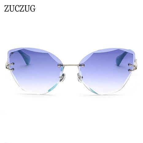 Yangjing-hl Gafas de Sol sin Montura de Gran tamaño para ...