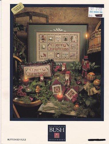 Stitch Shepherds Cross Bush Patterns - Shepherd's Bush Buttoned Yule Christmas Cross Stitch Chart Pattern