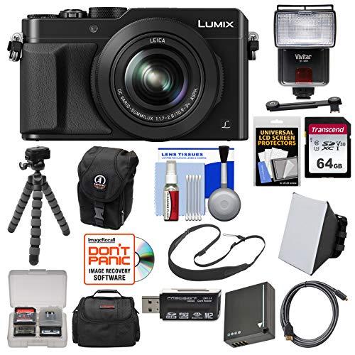 Panasonic Lumix DMC-LX100 4K Wi-Fi Digital Camera (Black) with 64GB Card +...