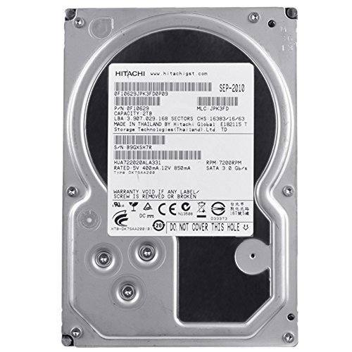 Hitachi Ultrastar A7K2000 2TB 3Gb/s SATA 7200RPM 32MB Internal HDD Hard Drive (Renewed)