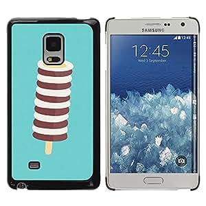 MOBMART Carcasa Funda Case Cover Armor Shell PARA Samsung Galaxy Mega 5.8 - White And Brown Lollipop