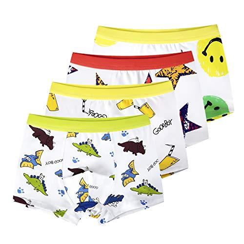 5d7e9f2e073a slaixiu Soft Cotton Kids Boxer Briefs Cartoon Boys Underwear Boxers 4-Pack  (UW75-