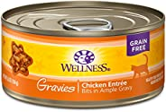 Wellness Natural Grain Free Wet Canned Cat Food Gravies Chicken