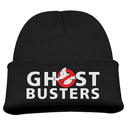 Ghostbusters Logo Boy Girl Knit Slouchy Hat Beanies Cap Black (Ghostbuster Accessories)