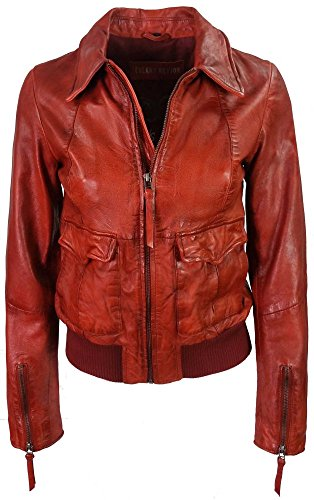 Freaky Nation - Damen Lederjacke Blouson Sheepnappa Lovely Girl rot frtUkqQQ