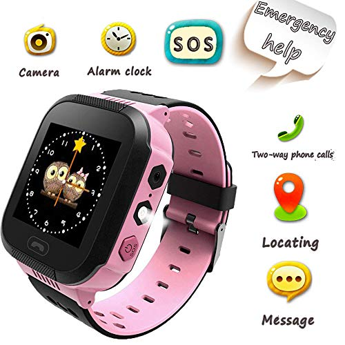 Kids Watches,Smart Watches with Camera,Children Watches Features Real Time Positioning SOS Emergency Alarm Voice Messages,Kids Phone Watches Best Birthday Gifts(Pink) (Best Emergency Phone For Kids)
