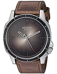Nixon Men's 'Ranger Ops' Quartz Stainless Steel and Leather Casual Watch, Color:Brown (Model: A9142594-00)