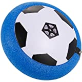 Acrim Air Soccer Ball Powered Electric Game Indoors & Outdoors with LED Lights and Song Toy for Boys and Girls, for Pets, Birthday Gift Present-Blue