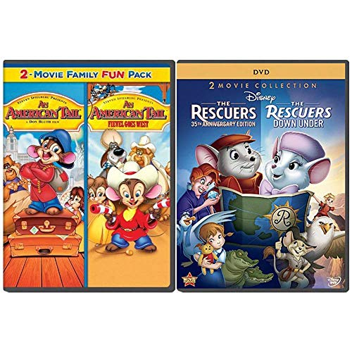 The Riveting Rodents Collection: 4 Movies (An American Tail 1-2 + The Rescuers 1-2)