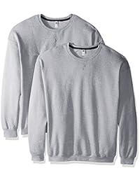 Fruit of the Loom Mens Crew Sweatshirt (2 Pack) Sweatshirt