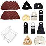 Saxton Blades Accessory Kit for Worx Sonicrafter oscillating multitool 70 piece
