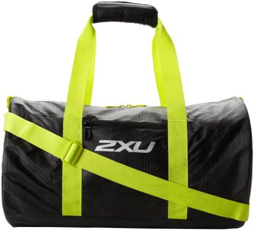 2XU Cylinder Gym Bag, Black/Aurora Lime, One Size