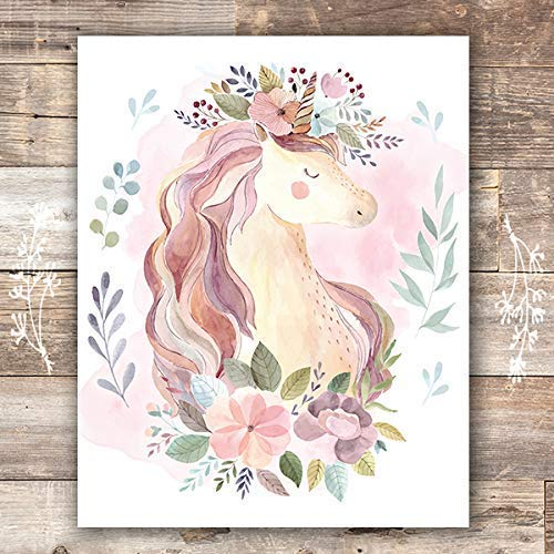 Set Of 3 - Unframed 8X10SGirls Room Decor Unicorn Wall Art Prints