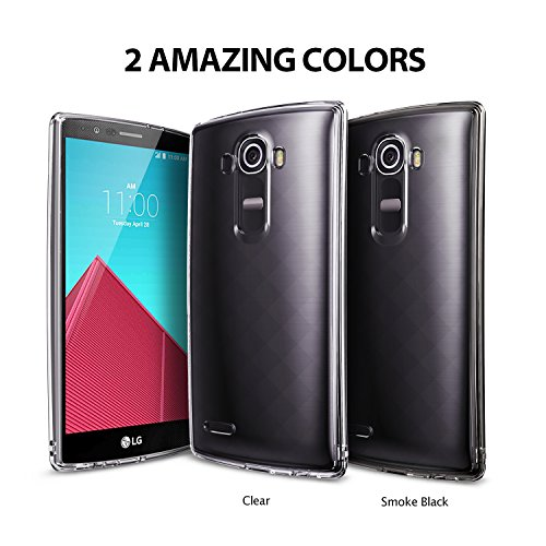 Ringke [Fusion] Compatible with LG G4 Case Crystal Clear PC Back TPU Bumper with Screen Protector [Drop Protection, Shock Absorption Technology][Attached Dust Cap] for LG G4 - Smoke Black by Ringke (Image #9)
