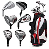 Callaway Strata Tour Complete Set (Right Hand, Stiff Flex, Stand Bag), DR, 3W, 5W, 4H, 5H, 6I, 7I, 8I, 9I, PW, SW, Putter, Bag, 5 Head Covers