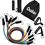 Oalas Resistance Band Set with Door Anchor, Ankle Strap, Exercise Chart & Resistance Band Carrying Case