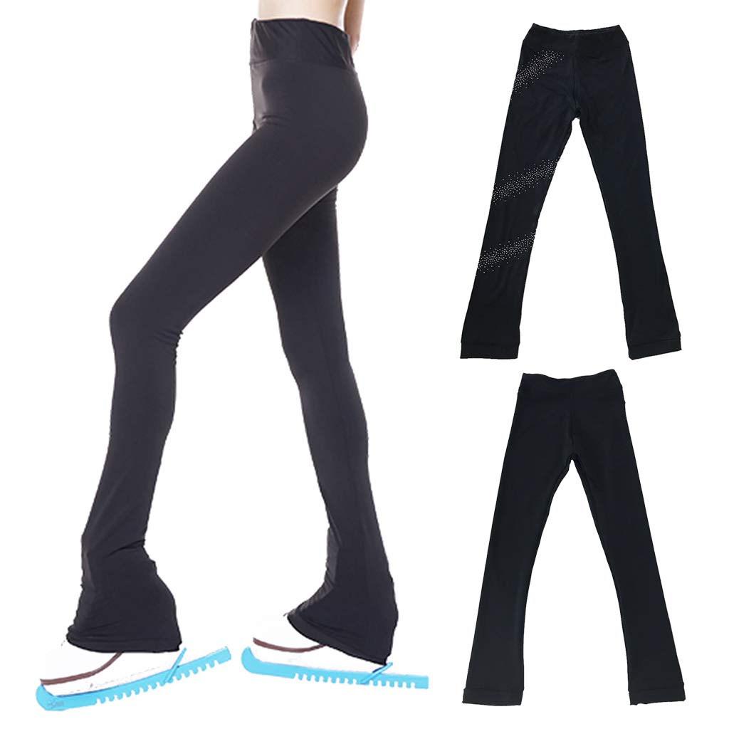 for Women and Girls 11 Sizes 2 Style Warm Fleece Injoyo Ice Skating Leggings Skate Pants with Crystal Compression and Comforable Thermal