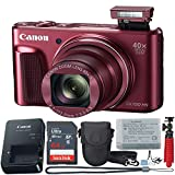 Canon PowerShot SX720 HS 20.3 MP Wi-Fi Digital Camera with 40x Optical Zoom & HD 1080p Video (Red) 11 Piece Value Bundle -  Canon (GP)