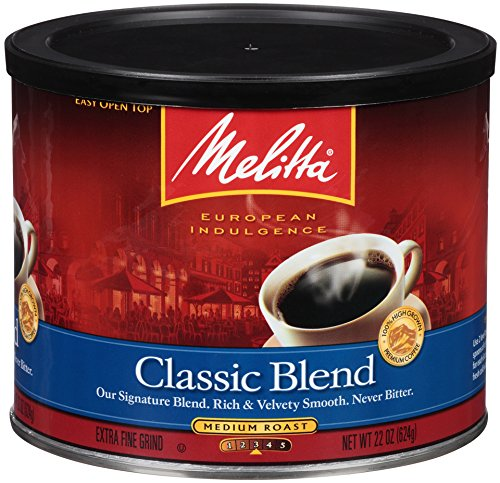 Melitta Coffee, Classic Blend Ground, Medium Roast, 22-Ounce