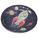 Ginger Ray Space Adventure Party Spaceship Paper Kids Plates, Mixed