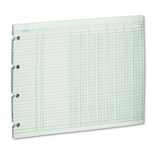Wilson Jones - Accounting Sheets, Eight Column, 9-1/4 x 11-7/8, 100 Loose Sheets/Pack, Green G10-8 (DMi PK
