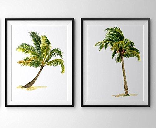 Palm-tree-art-A010-Set-of-2-art-prints-8x10Palm-tree-wall-artPalm-tree-picturesPalm-tree-paintingPictures-of-palm-treesPalm-tree-printsPalm-tree-home-decor