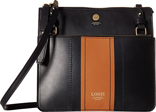 Lodis Rodeo Stripe RFID Odele Crossbody (Black) by Lodis