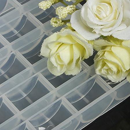 Amazon.com: [Free Shipping] 25 Compartments Plastic Bobbin Storage Organizer Box // 25 compartimentos caja organizador de almacenamiento de bobinas de ...