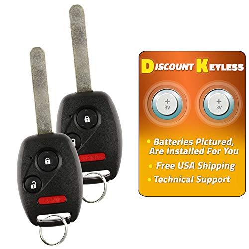 For 01-05 Honda Civic EX LX DX, 03-07 Honda Pilot Keyless Entry Remote Key Fob 3btn All In One NHVWB1U521, NHVWB1U523, 72147-S5A-A01-2 PACK
