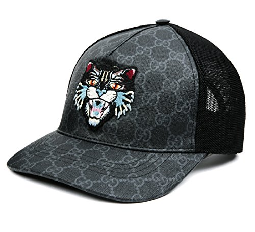 Wiberlux Gucci Men's Embroidered Cat Detail Mesh Back Cap