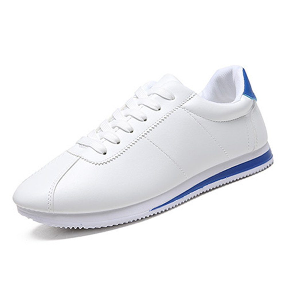 VOOYE Herren Sneaker Weiszlig;/Rot 44  43 EU|Wei? / Blau